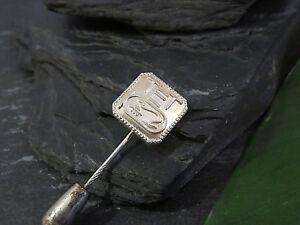 Alte-925-Silber-Brosche-Anstecker-Reklame-Bahlsen-Werbung-Keks-Hieroglyphe-Logo