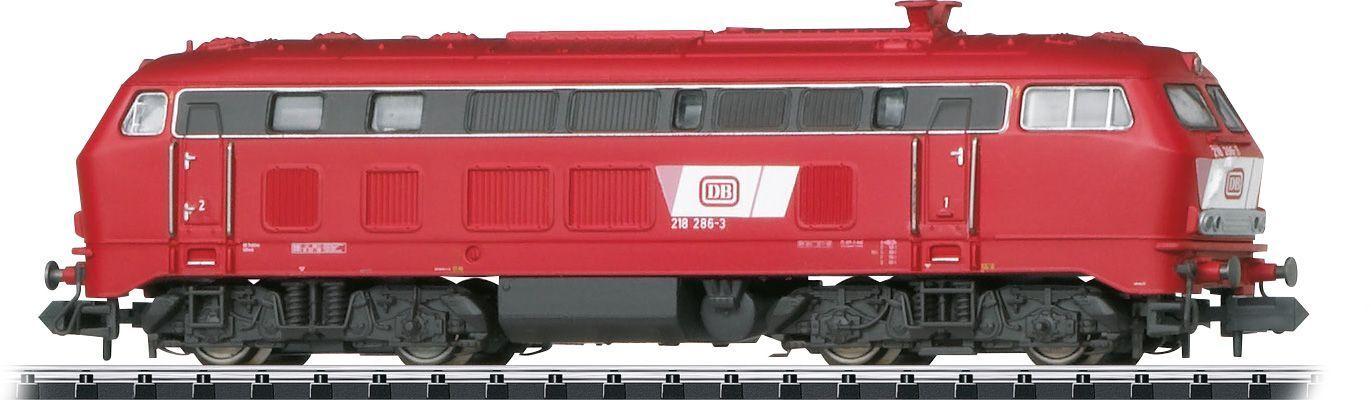 Minitrix 16288 diesellok br 218, DB, orientrojo, digital corte, serie única
