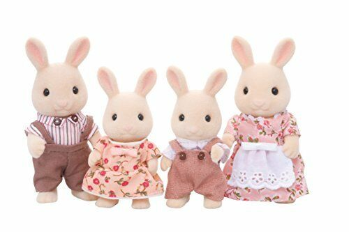 Epoch Japan SB Figure Calico Critters Milk Rabbit Family Set