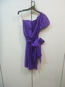 Matthew-Eager-me-too-purple-polka-dot-dress-sz-12-bnwot-e20