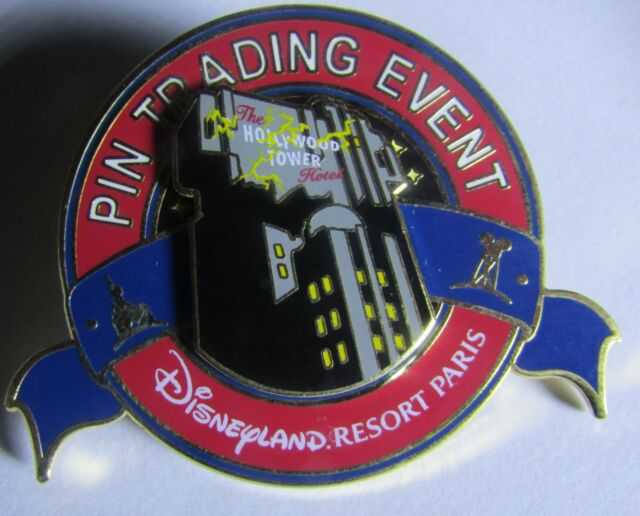 Disney DLRP Pin Trading Event Dro Pin Paris Hollywood Tower Hotel LE 400 Pin