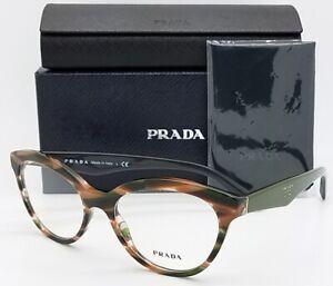 NEW-Prada-RX-Frame-Glasses-Havana-Green-PR-11RV-VAO1O1-52-AUTHENTIC-11RV-Classic