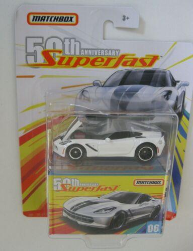 2016 Chevrolet Corvette Stingray** Matchbox Superfast 50th Moving Parts 1:64 OVP