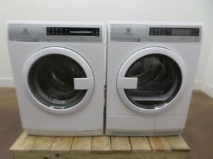 "Electrolux 24"" Steam Washer EFLS210TIW & Ventless Electric Dryer EFDE210TIW Set"