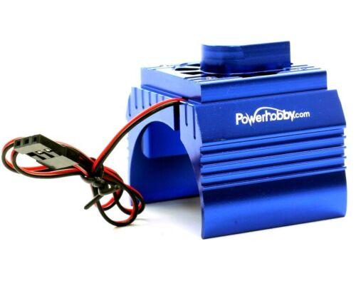 Powerhobby 1//10 Aluminum Brushless Motor Cooling Fan Blue Traxxas Velineon 3500