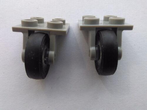2 X LEGO TRANS PLANE WHEELS 2415C01