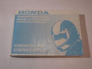 HONDA-CBR600-FSF4-2003-OWNER-OWNER-039-S-MANUAL-MANUEL-D-039-CONDUCTEUR-FAHRER-HANDBUCH