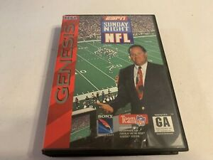 ESPN Sunday Night NFL Sega Genesis Complete in Box Tested