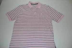 Shirts Brooks Brothers 346 Men's Size L Large Polo Pink Logo Blue Stripe Clothing, Shoes & Accessories