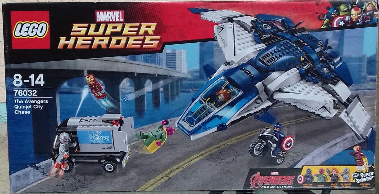 LEGO 76032 MARVEL-LA POURSUITE DU QUINJET DES AVENGERS-NEUF-QUE DU BONHEUR