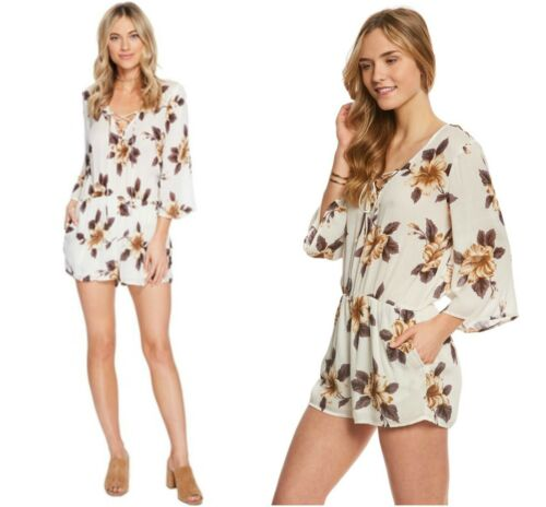 Front Nwt Xs Chic Floral Up Romper Lace O'neill Sz Neri Boho xwCqvZa1R