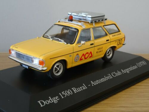 ALTAYA IXO ARGENTINA DODGE 1500 RURAL HILLMAN AVENGER 1978 CAR MODEL LX82 1:43
