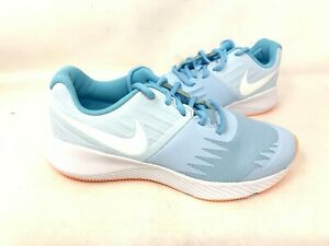 NEW-Nike-Youth-Girl-039-s-Star-Runner-Lace-Up-Shoes-Lite-Blue-907257-404-142R-z