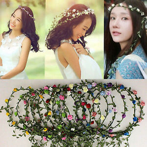 Haarband Geflochten Blumen Haarreif Stirnband Haarschmuck Kopfband
