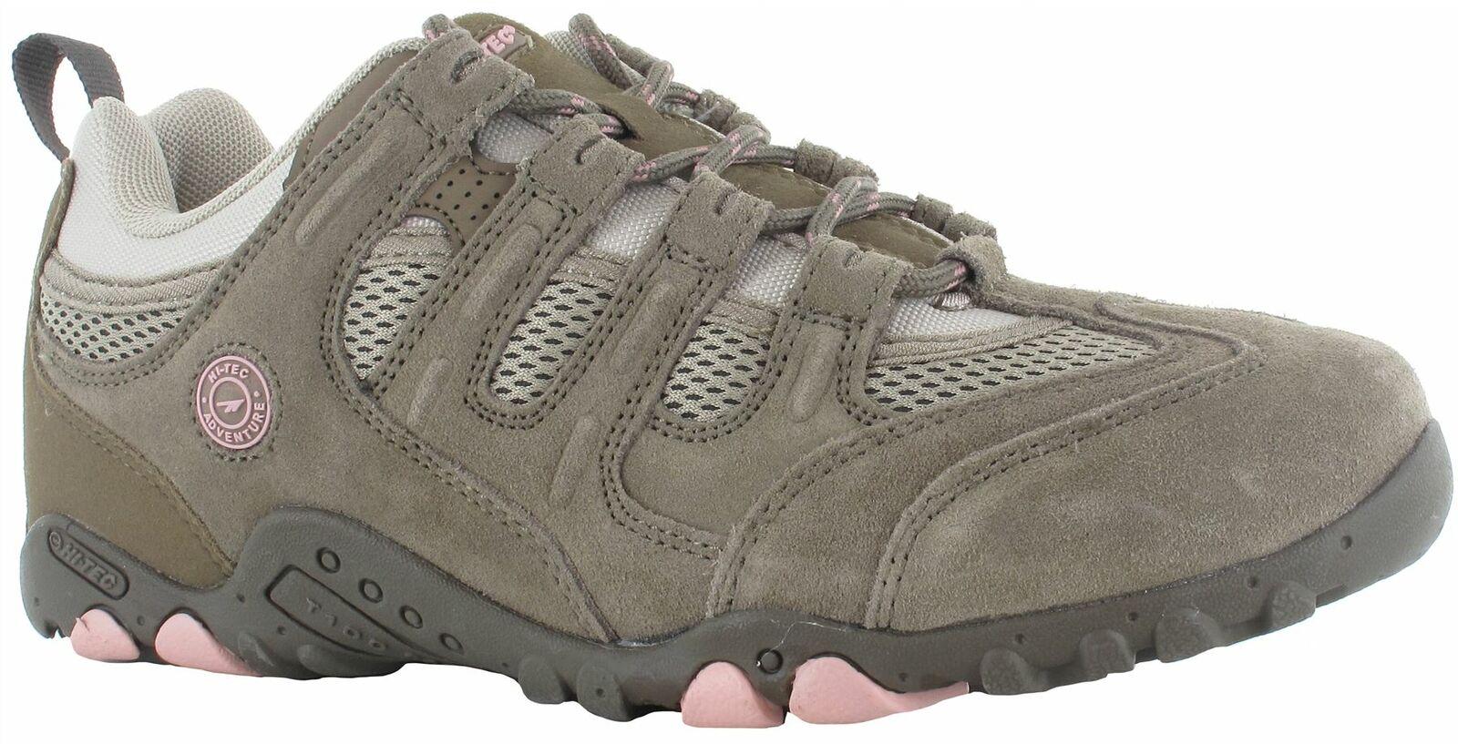 Hi Tec Quadra Classic daSie Walking Trainers Taupe