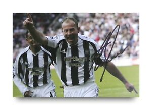 Alan-Shearer-Hand-Signed-6x4-Photo-Newcastle-United-Autograph-Memorabilia-COA