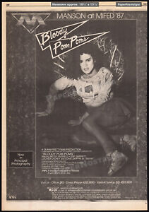 BLOODY POM POMS_/_CHEERLEADER CAMP__Orig. 1987 Trade AD / poster__BETSY RUSSELL