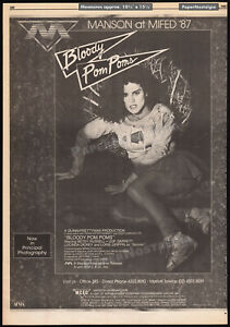 BLOODY-POM-POMS-CHEERLEADER-CAMP-Orig-1987-Trade-AD-poster-BETSY-RUSSELL
