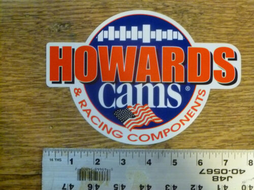 Howards Cams Large w//flag Gear Sticker Decal