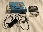 Realistic Electric Tie Clip Microphone with Box & Directions VTG FREE SHIPPING