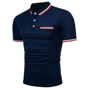 Men-039-s-T-Shirt-Summer-Casual-slim-fit-Short-Sleeve-clothes