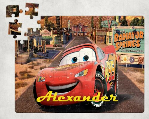 Your Childs Name Christmas Stocking Filler Personalised CARS Jigsaw 80 Piece