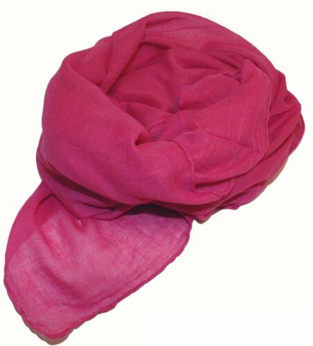 FOULARD Panno Cotton UNI Tinta Unita Rosa ca 95 x 95 cm