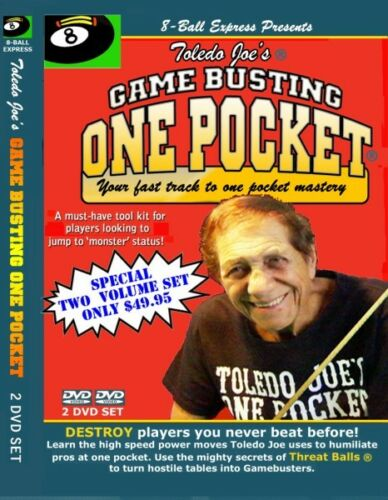 Toledo Joe's Game Busting One Pocket  Your fast track to one pocket - 2 DVDs