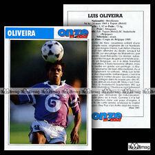 OLIVEIRA LUIS (SC ANDERLECHT) - Fiche Football / Voetbal 1991