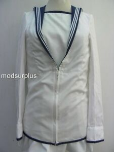 Royal-Navy-Class-2-RN-C2-white-Square-cadet-no1-riggers-Sailor-Middy-midi-Jacket