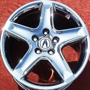 "SET OF 4 CHROME 17"" ACURA TL OEM FACTORY WHEELS RIMS RL ..."