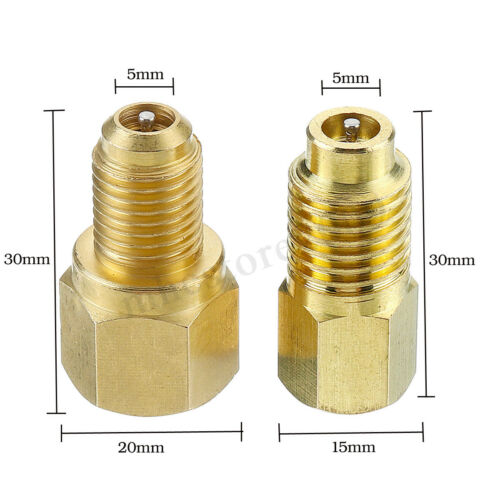 Brass R134a to R12 /& R12 to R134a Set Recovery Tank Vacuum Pump Adapter Suit !
