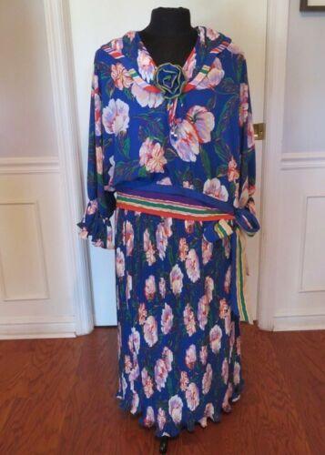 Diane Fres / Freis Vintage Ruffle Blouse & Skirt i