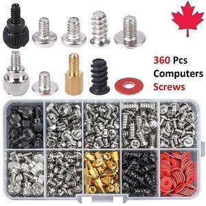 360 Pieces Screw Standoffs Set Kit for Computer Case Hard Drive Motherboard Fan