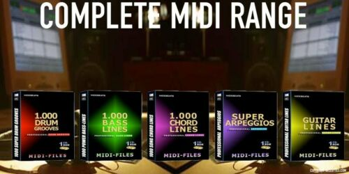 +MIDI-FILES+ nicebeats for professional use+ 5 CD`s Midi-files  Sample CDs
