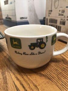 John Deere  LARGE 28oz Coffee Mug Soup Chili Mug  By GIBSON logo latte giant cup