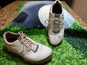 Mens-ECCO-Biom-Hydromax-Golf-Shoes-White-Dark-Shadow-US-8-8-5-EU-42