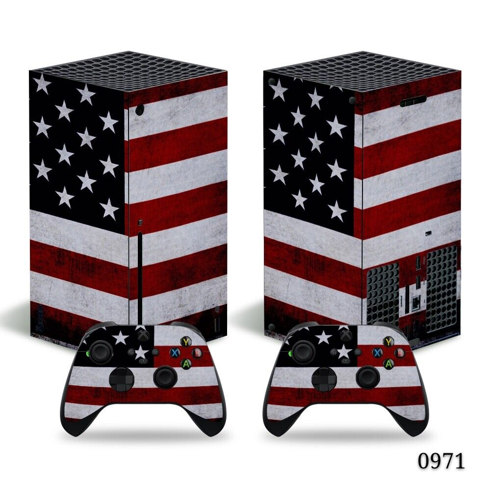 US, CANADA & UK Flag Xbox Series X Full Set Skin Vinyl Wrap Decal Sticker