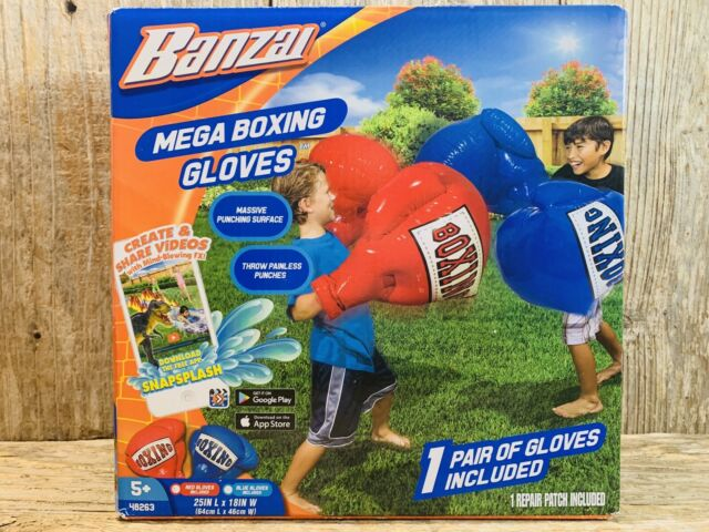 Banzai Kids Toys Inflatable Mega Boxing Gloves 48263 Fun for sale online
