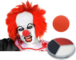 image is loading horror clown costume accessory set bald cap wig