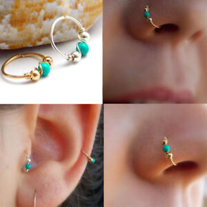 Nose Ring Fake Nose Rings Lip Rings Small Thin Body Piercing