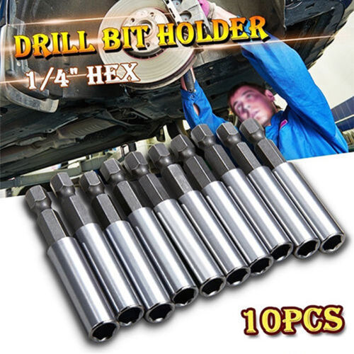 10X Extension Hex Screw Socket Magnetic Impact Driver Drill Bit Holder Adapter #