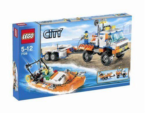 1 von 1 - LEGO® CITY 7726 Strand-Truck der Küstenwache m. Schnellboot NEU/OVP RARITÄT