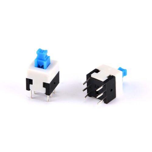 Mini Auto-Verrouillage//non-Auto-Verrouillage carré Bouton Poussoir Switch 6 broches 5.8mm-8.5mm