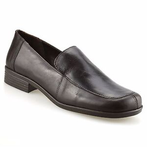 Ladies-Womens-Leather-Flat-Slip-On-Loafers-Smart-Office-Work-Pumps-Shoes-Size