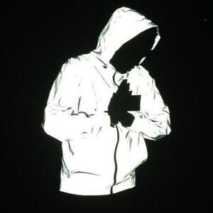 Reflective-Jacket-3M-Men-039-s-Waterproof-Cycling-Motorcycle-Night-Safe-Coat-Hoodie