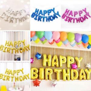 Image Is Loading 13Pcs 034 HAPPY BIRTHDAY Letters Foil Balloons