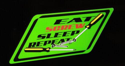 Eat Screw Sleep repeat decal Green snap on wrench rachet screwdriver