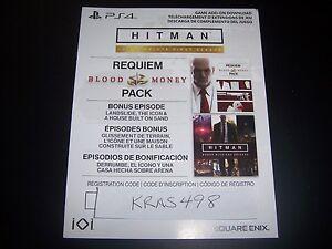 Details about Hitman Requiem Blood Money Pack Code DLC Download PS4  Playstation 4