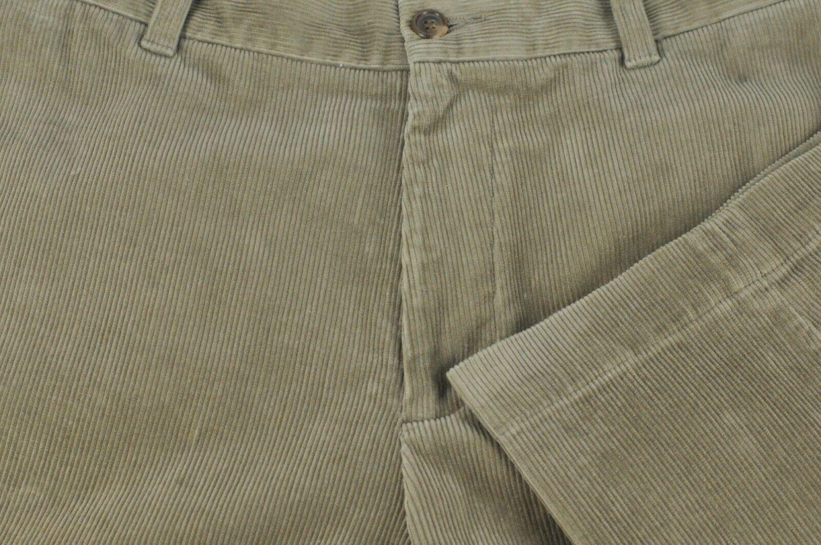 Brooks Bredhers 346 Men's Cafe Brown Corduroy Cotton Dress Pants 31 x 30